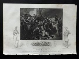 Tallis (Pub) 1854 Antique Military Print. Death of General Ralph Abercromby